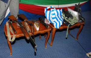 weapons used as evidence in the simon mann trial