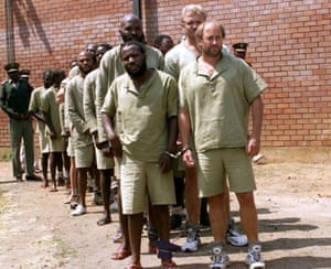 A group of aquitted coup plotters in zimbabwean prison