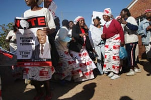 MDC supporters attend a campaign rally in Bulawayo
