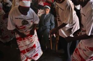 Boy at MDC rally