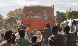 Morgan Tsvangirai's bus