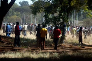 Zanu-PF at MDC rally