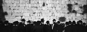 Jerusalem, Israel: Ultra Orthodox Jewish men congregate at the Western Wall