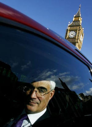 London, UK: Alistair Darling leaves the Houses of Parliament