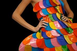 Mexico City, Mexico: A model wears a creation by Agatha Ruiz De La Prada