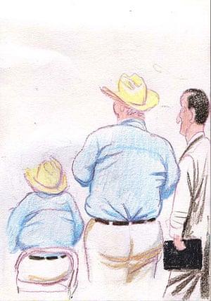Republican party delegates wearing cowboy hats