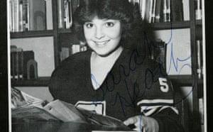 Sarah Palin in her high school yearbook
