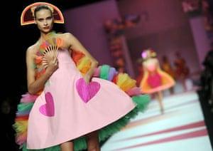 Milan, Italy: A model presents a creation by Agatha Ruiz De La Prada