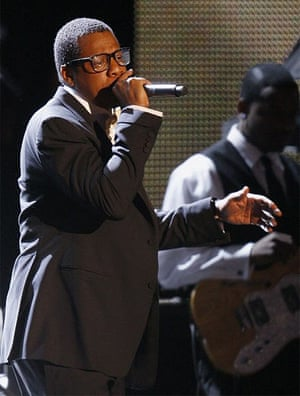 Rapper Jay-Z performs during the Neighborhood Inaugural Ball