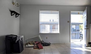 A view from inside the front room of Major Nidal Malik Hasan's apartment