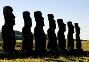 Easte Island statues or moais, Chile