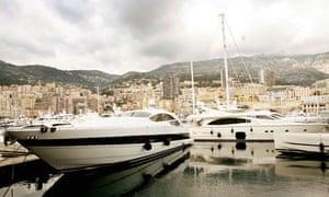 Luxury yachts, Monaco