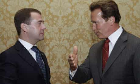 Dmitry Medvedev, Arnold Schwarzenegger
