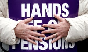 Hands off our pensions placard