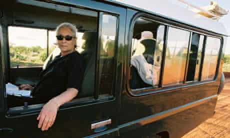 Jenny Diski on bus, Kenya