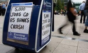 '5,000 jobs go as banks crash'