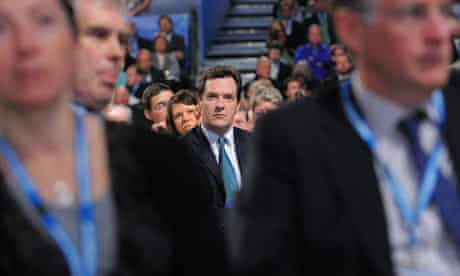 George Osbourne watches Michael Gove