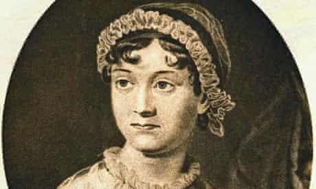 Detail of portrait engraving of Jane Austen