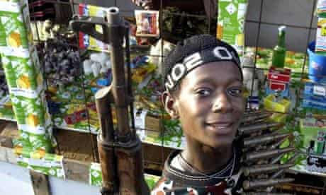 A Liberian child soldier named Alfred
