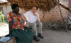Andrew Witty with Aduwe Nosiante in Katine, Uganda