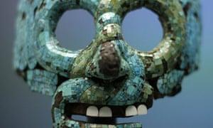 Mask of Tlaloc, part of the Moctezuma: Aztec Ruler