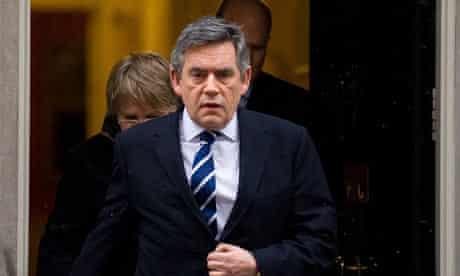 Gordon Brown leaves 10 Downing Street