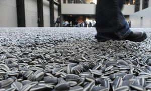 Ai Weiwei's sunflower seeds in the Turbine Hall, Tate Modern