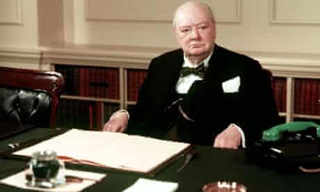 Churchill in cabinet room
