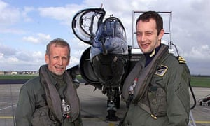 father and son sea harrier pilots