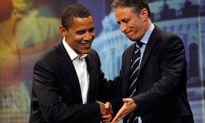 Obama and Stewart