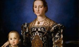 Bronzino's Eleanora of Toledo with her son Giovanni, c1545.