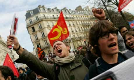 French Students Protest Against Pension Reforms Ahead Of Parliamentary Vote