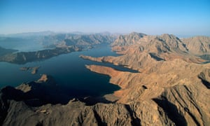 Aerial View of Ormuz Straight