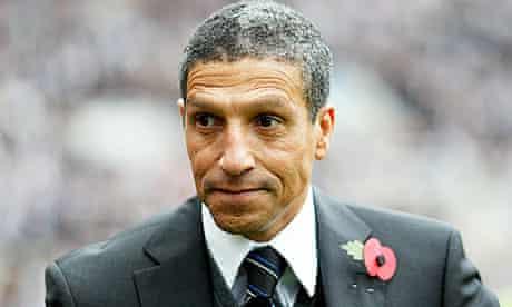 Newcastle United's manager, Chris Hughto