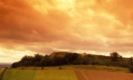 Sunrise in South Cadbury, England.