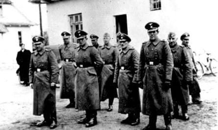 Nazi guards in Belzec death camp