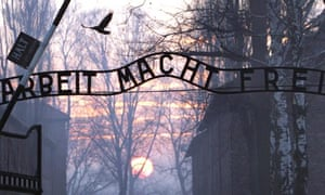 Auschwitz death camp sign