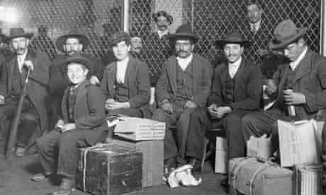 Immigrants Waiting at Ellis Island