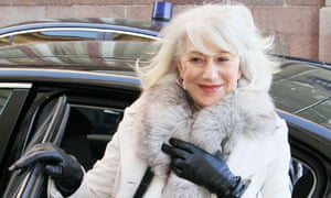 Actress Helen Mirren Attends Private Screening of 'The Last Station' in Moscow