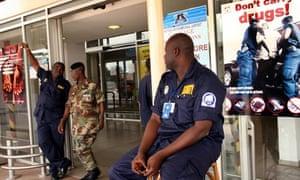 Security guards at Kotoka airport