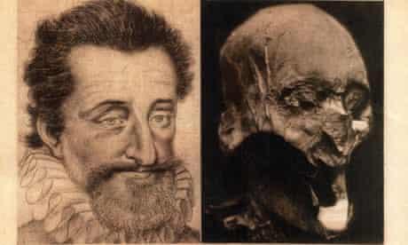 head of former French King Henri IV