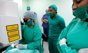 Cuban doctors in surgery