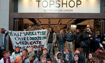 topshop protest philip green