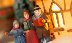 Christmas Carol Singers Figurines.Faithful Or Not All Can Rejoice In Carols Hymns Drenched
