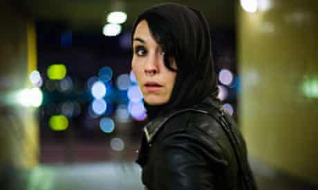 Lisbeth Salander (Noomi Rapace) in The Girl with the Dragon Tattoo.