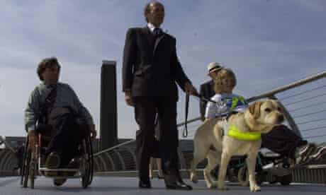 The Millennium Bridge opens to the disabled.