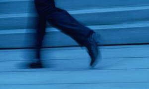 Walking Feet of Businessman