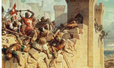 Guillaume de Clermont Defending Ptolemais in 1291 by Dominique Louis Papety