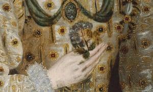 Snake appears in portrait of Queen Elizabeth 1