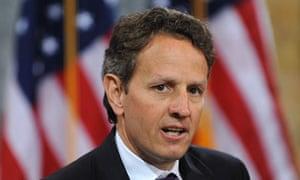 Timothy Geithner, the US Treasury secretary